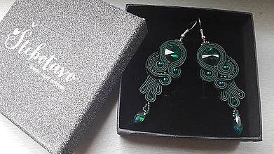 Náušnice - najkrajšia nevesta (zelené) - 9280666_
