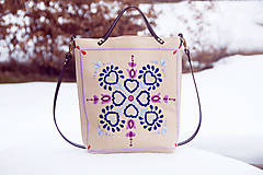 Veľké tašky - Vyšívaná taška Jasna - 9280209_