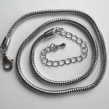Komponenty - Hadia retiazka-1ks (3mm/37cm-platina) - 9282188_