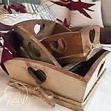 """Nádoby - drevené misky """"Srdečné 2"""" - 9280363_"""