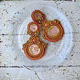 Náušnice - Pistachio&Orange Ice Cream - sutaškové náušnice - 9279906_