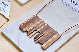 Náhrdelníky - Static 2 /drevený šperk/ - 9279069_