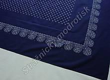 Úžitkový textil - Ubrus 125 x 200 cm MODROTLAČ - 9279349_