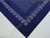 Úžitkový textil - Ubrus 125 x 125 cm MODROTLAČ_více variant - 9279548_