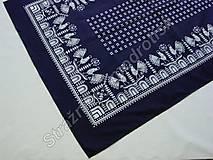 Úžitkový textil - Ubrus 95 x 140 cm MODROTLAČ - 9279590_