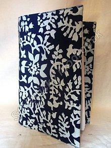 Úžitkový textil - Obal na knihu MODROTLAČ_vzor na přání - 9278880_
