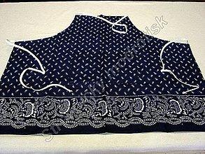 Úžitkový textil - Zástěra s laclem MODROTLAČ_vzor na přání - 9278969_