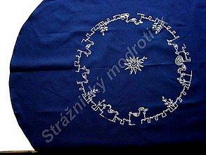 Úžitkový textil - Kulatý ubrus Velikonoční MODROTLAČ - 9279157_