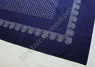 Úžitkový textil - Ubrus 125 x 250 cm MODROTLAČ - 9279203_