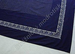 Úžitkový textil - Ubrus 125 x 230 cm MODROTLAČ - 9279210_