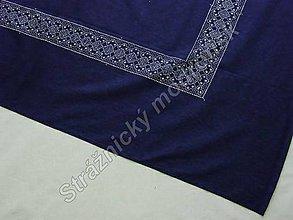 Úžitkový textil - Ubrus 125 x 210 cm MODROTLAČ - 9279233_