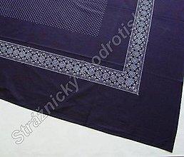 Úžitkový textil - Ubrus 125 x 180 cm MODROTLAČ - 9279459_