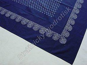 Úžitkový textil - Ubrus 125 x 170 cm MODROTLAČ - 9279483_