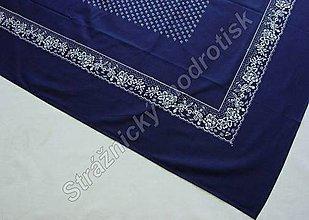 Úžitkový textil - Ubrus 125 x 160 cm MODROTLAČ - 9279490_