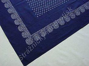 Úžitkový textil - Ubrus 125 x 150 cm MODROTLAČ - 9279498_