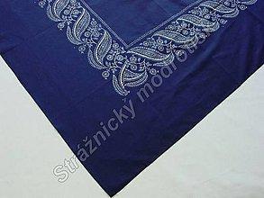 Úžitkový textil - Ubrus 125 x 140 cm MODROTLAČ - 9279503_