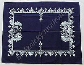 Úžitkový textil - Ubrus 75 x 95 cm MODROTLAČ - 9279668_
