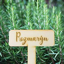 Dekorácie - Drevený bylinkový zápich ROMANTIK - 9282508_