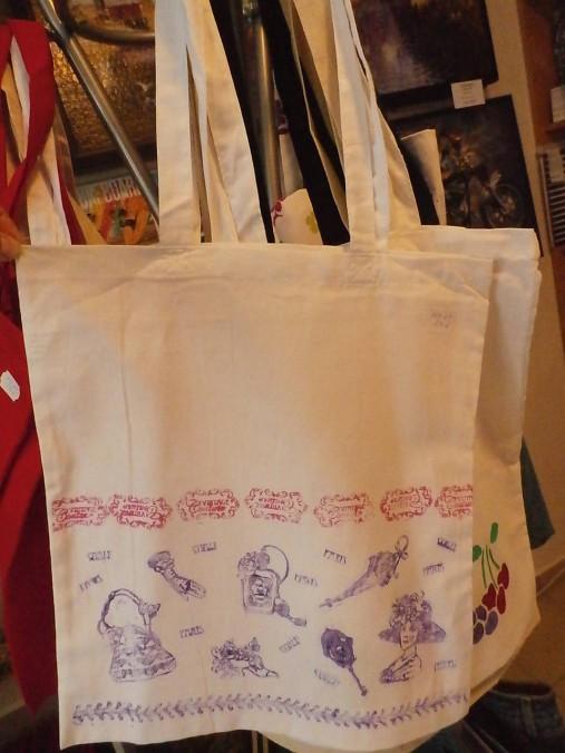 56ff5a087 Plátená nákupná taška s handmade aplikáciou / rifloviny - SAShE.sk ...
