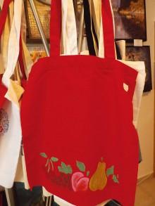 Nákupné tašky - Plátená nákupná taška s handmade aplikáciou - 9280466_