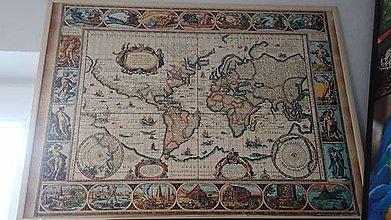 Obrázky - Puzzle obraz Mapa - 9280631_