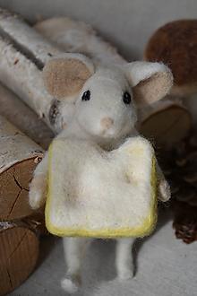 Hračky - Myška so syrom - 9281221_