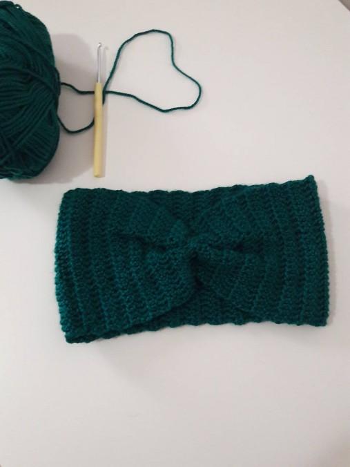 Smaragdová čelenka   Crochetfactory - SAShE.sk - Handmade Čiapky 9be31d5ecc