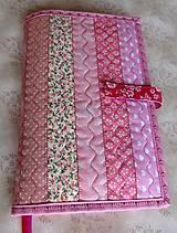 Papiernictvo - Obal na knihu - ružové pásiky - 9281217_