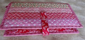 Papiernictvo - Obal na knihu - ružové pásiky - 9281218_