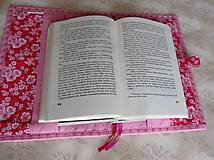 Papiernictvo - Obal na knihu - ružové pásiky - 9281219_