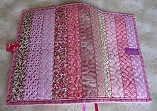 Papiernictvo - Obal na knihu - ružové pásiky - 9281224_