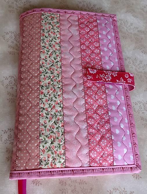 Obal na knihu - ružové pásiky