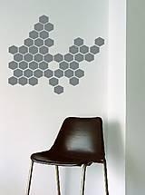 Nálepky na stenu - Šesťuholníky 104 ks