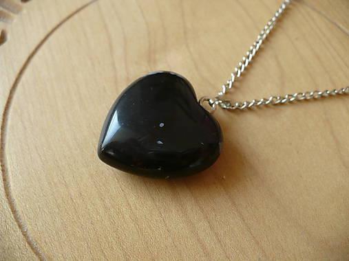 Veľké 3d srdce z Obsidiánu vločkového   24nika - SAShE.sk - Handmade ... 84d8b7bca35