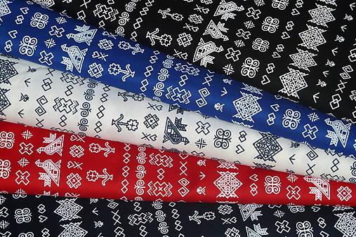 6b3b4aba9 Látka Čičmany mini (Červená) / SlovAB - SAShE.sk - Handmade Textil