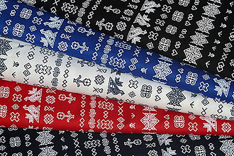 Textil - Látka Čičmany mini (Modrá) - 9283945_