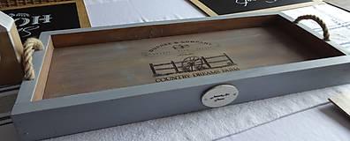 Nádoby - Sivý podnos - 9283097_