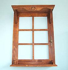 Nábytok - Polica okno 2 (Hnedá) - 9284820_