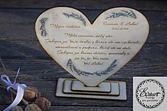 Svadobné srdce - Ďakovné