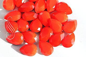 Komponenty - KAB  RED OPAL glass drop 10x14 / 1ks - 9285361_