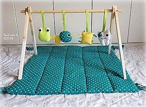 Hračky - drevená hrazdička pre bábätko - 9284950_