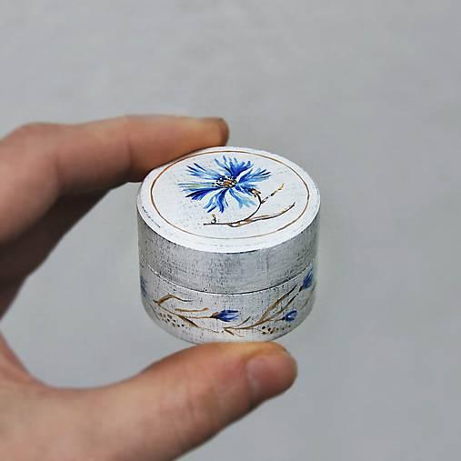 Maľovaná šperkovnička  (Modrá)