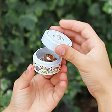 Krabičky - Maľovaná šperkovnička  (Oranžová) - 9284843_