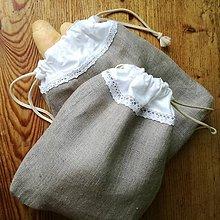 Úžitkový textil - Ľanové vrecko na pečivo a potraviny - 9282935_