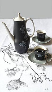 Úžitkový textil - Maľované prestieranie (štóla) s tulipánmi a trávami - 9283585_
