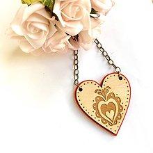 Náhrdelníky - Náhrdelník Srdce Orava - 9282786_