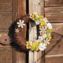 Dekorácie - Venček zo sušených kvetov - 9286007_
