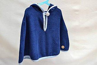 Detské oblečenie - Kúpacie pončo (Námornícka modrá) - 9285111_