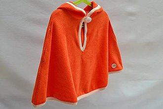 Detské oblečenie - Kúpacie pončo (Oranžová) - 9285138_