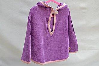 Detské oblečenie - Kúpacie pončo (Fialová) - 9285148_